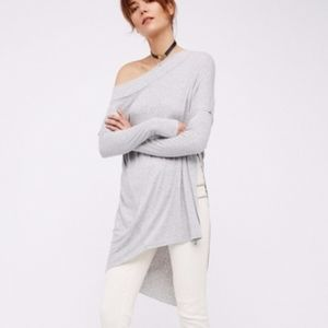 We the Free | Grapevine asymmetrical tunic gray M